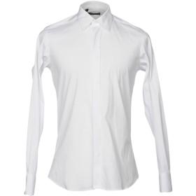 《セール開催中》ALESSANDRO DELL'ACQUA メンズ シャツ ホワイト 42 コットン 78% / ナイロン 18% / ポリウレタン 4%