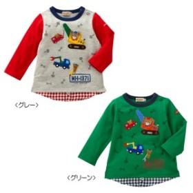 ミキハウス正規販売店/ミキハウス mikihouse 重ね着風長袖Tシャツ(80cm・90cm)