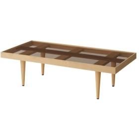 ローテーブル おしゃれ 安い ガラス天板の天然木リビングテーブル