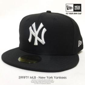 NEW ERA 【ニューエラ】 ベースボールキャップ 59FIFTY ニューヨーク・ヤンキース ブラック×ホワイト 黒