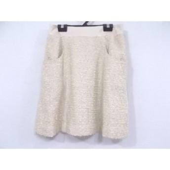 ジャスグリッティー JUSGLITTY スカート サイズ2 M レディース 美品 ベージュ ツイード/ラメ【中古】