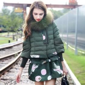新作 新品 安い アウター 狸の毛 かわいい レディースコート 毛皮 保温性 リアルファー シンプル ダウンコート 取り外し可能ファー