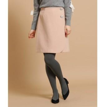 Bon mercerie / ボン メルスリー ◆【SSサイズあり】クリアボタンラップスカート
