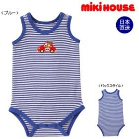 ミキハウス mikihouse 肌着 ドライブプッチー☆ノースリーブボディシャツ(70cm・80cm・90cm)