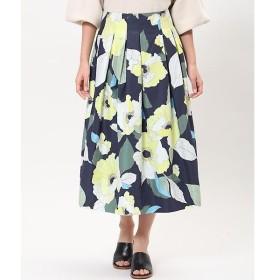 INED / イネド ハイウエストフラワープリントスカート
