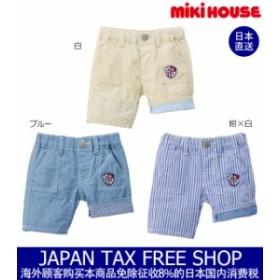 ミキハウス正規販売店/ミキハウス mikihouse ミニワッペン付き6分丈パンツ(80cm・90cm)