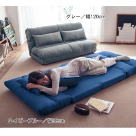 ソファーベッド ソファー おしゃれ 安い サイズが選べるクッション付きソファーベッド グレー 60