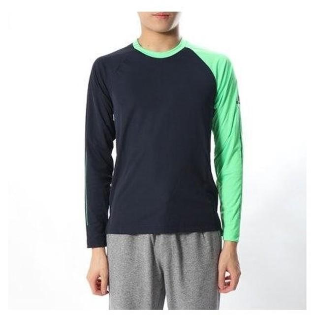 アディダス adidas メンズ テニス 長袖Tシャツ MENRULE#9FITTEDTシャツ CZ0561 (ネイビー)