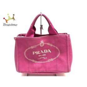 75bec9a0c6fe プラダ PRADA トートバッグ CANAPA ピンク×アイボリー キャンバス スペシャル特価 20190416
