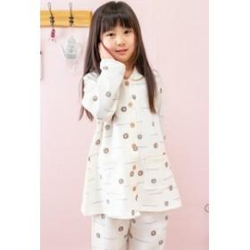 パジャマ キッズ 女の子 長袖 冬 肌にやさしい綿100% 130cm/140cm/150cm/160cm ヒツジ柄 前開き お