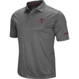 Colosseum Men's Texas A&M Aggies Grey Cut Shot Polo 衣類 アパレル ティーシャツ メンズ