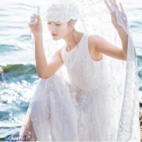 マキシワンピ リゾートワンピース マキシ丈 刺繍ワンピース ロングドレス シフォン パーティードレス 可愛い 白ワンピース レースワンピ