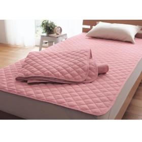 布団カバー シーツ 敷きパッド パッドシーツ 綿混素材の敷きパッド2枚セット カラー 「ピンク」