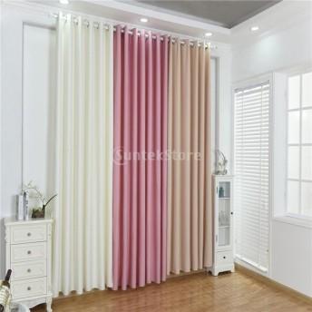 窓 カーテン ドレープ パネル 遮光 ホーム 魅力的 装飾 全6色 - ピンク, 100x250cm