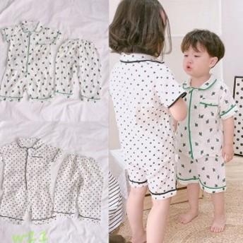 子どもパジャマ 男の子女の子 子供パジャマ 上下セット ナイトウェア 半袖 可愛い ルームウェア 夏用 部屋着 ハーフパンツ キルト ユニセ