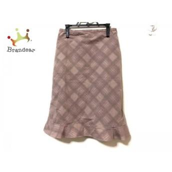 ホコモモラ JOCOMOMOLA スカート サイズ40 XL レディース ピンク×ブラウン×マルチ チェック柄 スペシャル特価 20190520