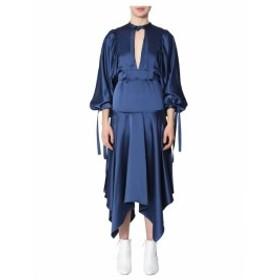 セルフポートレイト ドレス カジュアルドレス 結婚式用 レディース【self-portrait Midi Dress】BLU