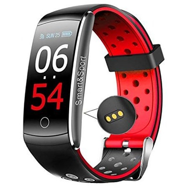 2cbc938623 スマートウォッチ 最新版 腕時計 スマートブレスレット自動睡眠監視 血圧計 心拍計 着信通知