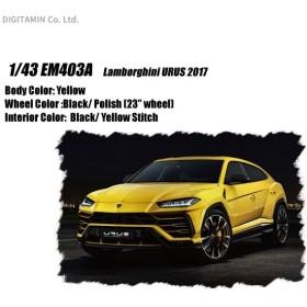 送料無料◆メイクアップ EIDOLON 1/43 ミニカー ランボルギーニ ウルス 2017 イエロー EM403A (ZM50645)