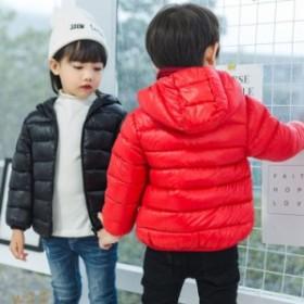 子供服 女の子男の子 ダウンコート アウター 90-130cm キッズコート キッズ服 子供コート 中綿コート 冬着 フード付き ジャケット