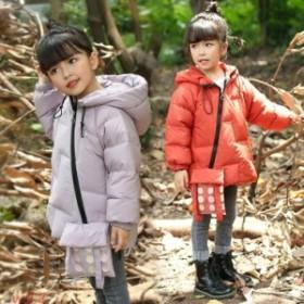 子供服 女の子 ダウンコート 子供コート キッズ服 アウター 冬着 3色 中綿コート ロングコート フード付き キッズコート 中綿 90cm-130c