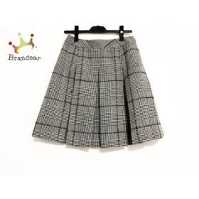 エムズグレイシー M'S GRACY スカート サイズ38 M レディース 黒×白 千鳥格子/ラメ     スペシャル特価 20190629