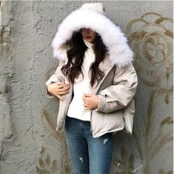 [55555SHOP] 中綿あったかモッズコートレディース/毛皮襟 ファー付き襟 コート レディース/フード付き ロング丈 秋冬
