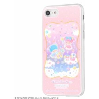 iPhone8 iPhone7ケース キキララ リトルツインスターズ サンリオ TPUケース+背面パネル 宝石箱 アイフォン8 カバー