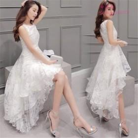 ドレス 結婚式 お呼ばれ ロング丈ワンピース オシャレ ノースリーブワンピース ドレス ワンピース ドレス 白 ドレス パーディー