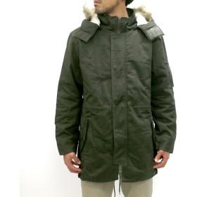 モッズコート - MARUKAWA モッズ コート 大きいサイズ メンズ 冬 ツイル 中綿 カーキ/オリーブ 3L/4L/5L【アウター フード ボア ファーミリタリー】