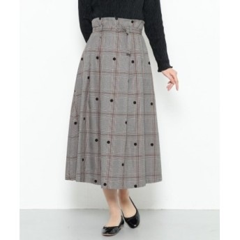 SENSE OF PLACE(センスオブプレイス) スカート スカート チェックミディフレアスカート