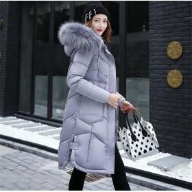 [55555SHOP]秋冬新作 ダウンジャケット プリント ゆったり モコモコネック 毛襟 フード付き ファッション 全5色