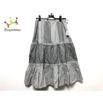 イオコムイオ センソユニコ スカート サイズ38 M レディース 美品 黒×白 チェック柄 スペシャル特価 20190808【人気】