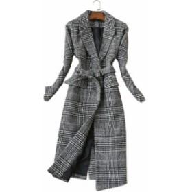 グレンチェック柄!ロング丈ジャケット+スカートのスーツセット ロングスカート 秋冬 セットアップ レディース セットアップ スカート