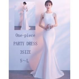ビジュー ノースリーブ タイト ロング ワンピース きれいめ 上品 美ライン オルチャン 結婚式 パーティ 大きいサイズ