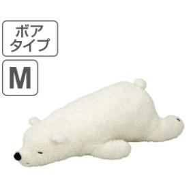 抱き枕 ぬいぐるみ 動物 ねむねむアニマルズ ボアタイプ ラッキー Mサイズ ( 抱きまくら ヌイグルミ 洗える 枕 まくら クッション ふわ
