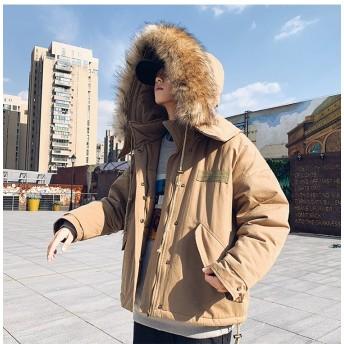 [55555SHOP] 2018秋 冬 新作 メンズ アウター 毛皮の襟 フードつきコート ジャケット ダウンコート コットンコート カップルウェア