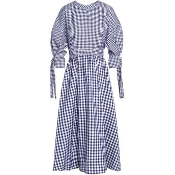 《セール開催中》ROSETTA GETTY レディース 7分丈ワンピース・ドレス ダークブルー 4 コットン 100%