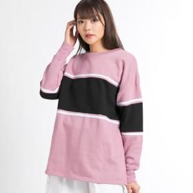 スウェット・ジャージ - WEGO【WOMEN】 カラーパネルBIGスウェット BR19SP12-L015