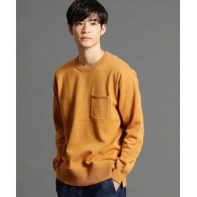 グランドパーク ポケット付きクルーネックニット メンズ 10オレンジ 46(M) 【Grand PARK】