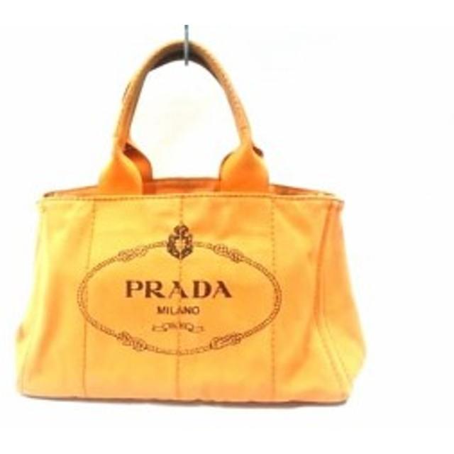 67890b18811f プラダ PRADA トートバッグ レディース CANAPA オレンジ キャンバス【中古】