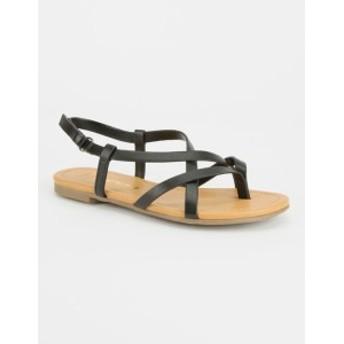 SODA シューズ 靴 キッズ 女の子 BLACK Criss Cross Girls Sandals