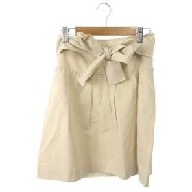 プロポーション ボディドレッシング PROPORTION BODY DRESSING スカート 台形 ミニ ジップフライ ベルトループ 2 ベージュ /TK14 レディース【中古】