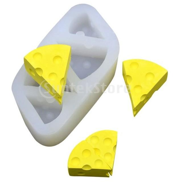 1セットシリコーン金型チーズ形状DIY樹脂キャスティングジュエリー金型ツール