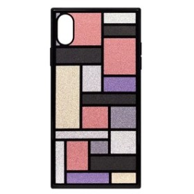 アピロス PEI12-TL32-PK iPhone XS Max用 ケース TILE スクエア型(ステンドグラス ピンク)EYLE[PEI12TL32PK]【返品種別A】