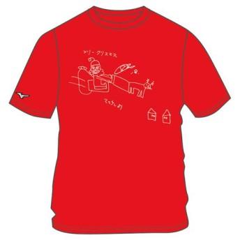 MIZUNO SHOP [ミズノ公式オンラインショップ] マエケン画伯Tシャツ「サンタ」 12JRTA0700