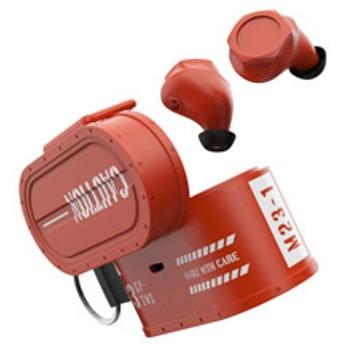 ミリタリーデザイン800mAh充電ケース付フルワイヤレスイヤホン CARGO オレンジ CI-0023-OR