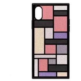 アピロス PEI08-TL32-PK iPhone XS/X用 ケース TILE スクエア型(ステンドグラス ピンク)EYLE[PEI08TL32PK]【返品種別A】