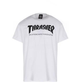 《9/20まで! 限定セール開催中》THRASHER メンズ T シャツ ホワイト XL コットン 100% SKATE MAG T-SHIRT