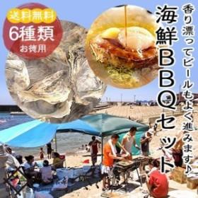 海鮮BBQ 6種Aセット(カキ3個、アワビ1個、サザエ2個、ホタテ3枚、エビ3尾、イカ1杯)
